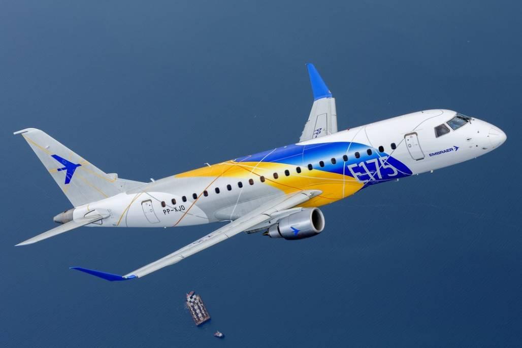 e175-w6a1497 (Embraer anuncia venda de 17 jatos E175 — Foto: Divulgação)