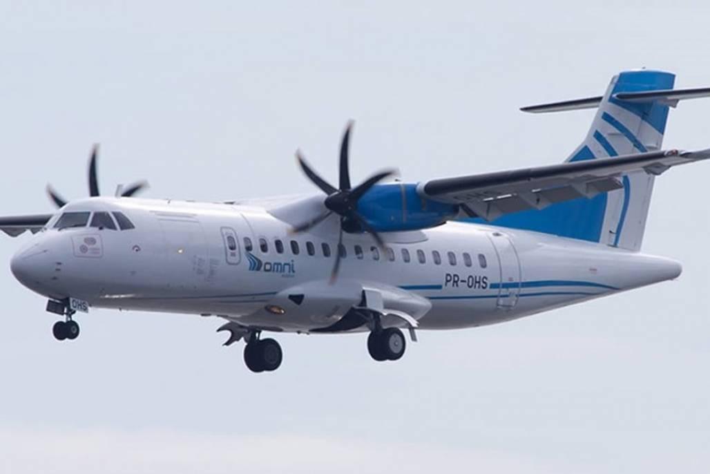 turismo-da-fe (A aeronave ATR-42-500, da OMNI Aviation, tem capacidade para 47 lugares e será utilizada no Turismo da Fé - Foto: Divulgação)